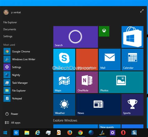 How to enable dark theme for Start Menu and Taskbar in