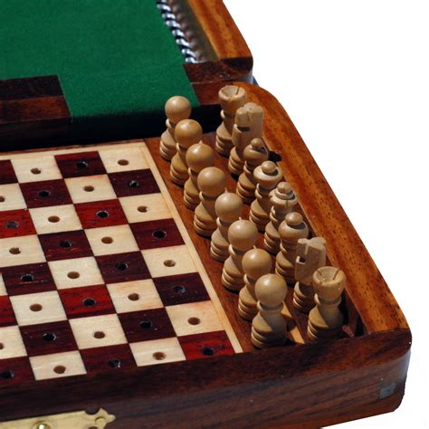 Travel Wood Pegged Chess Set – 7 inch – Wood Expressions