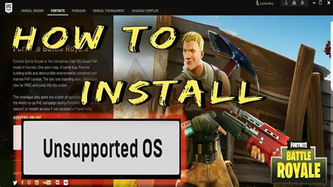 How To Install Fortnite With Unsupported OS - YouTube
