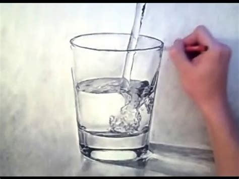 3D looking WATER/GLASS drawing - look for beauty in the