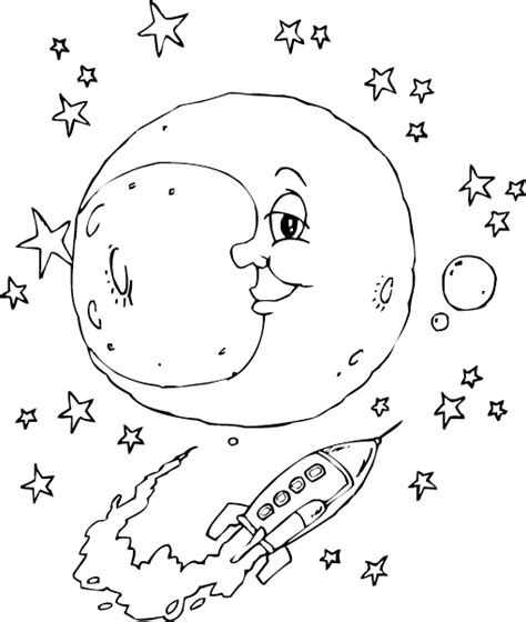 Free Printable Moon Coloring Pages for Kids - Best