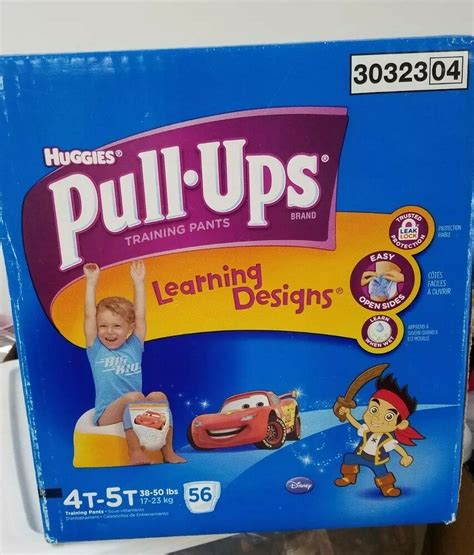 Huggies Pull-ups 4t 5t Learning Designs, NEW sealed 56